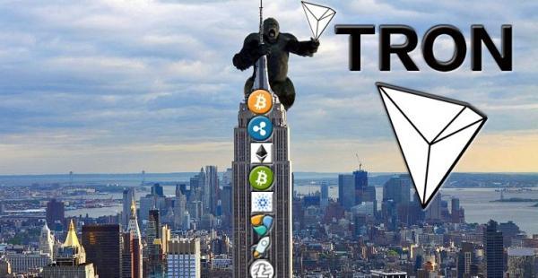 TRON вошёл в топ-10 криптовалют по рыночной капитализации